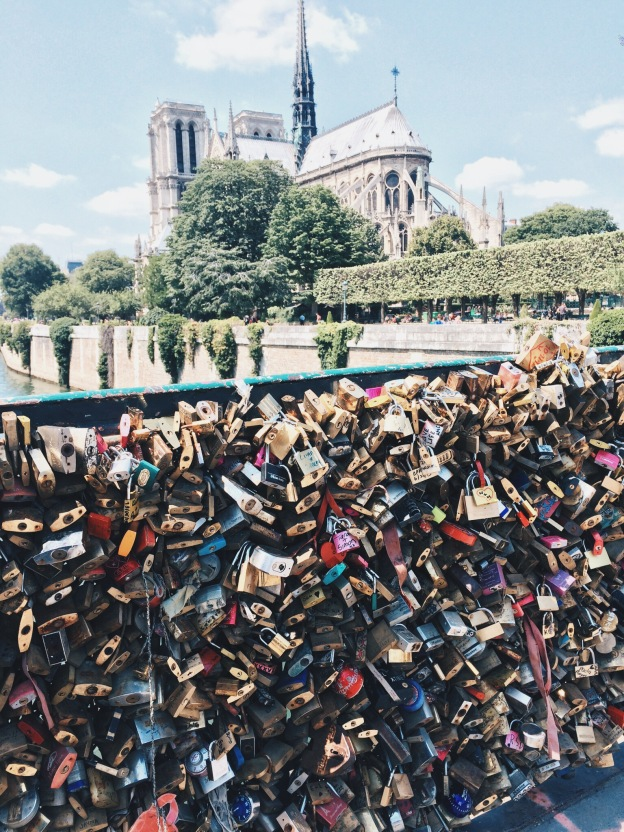 Love Lock Bridge Notre Dame